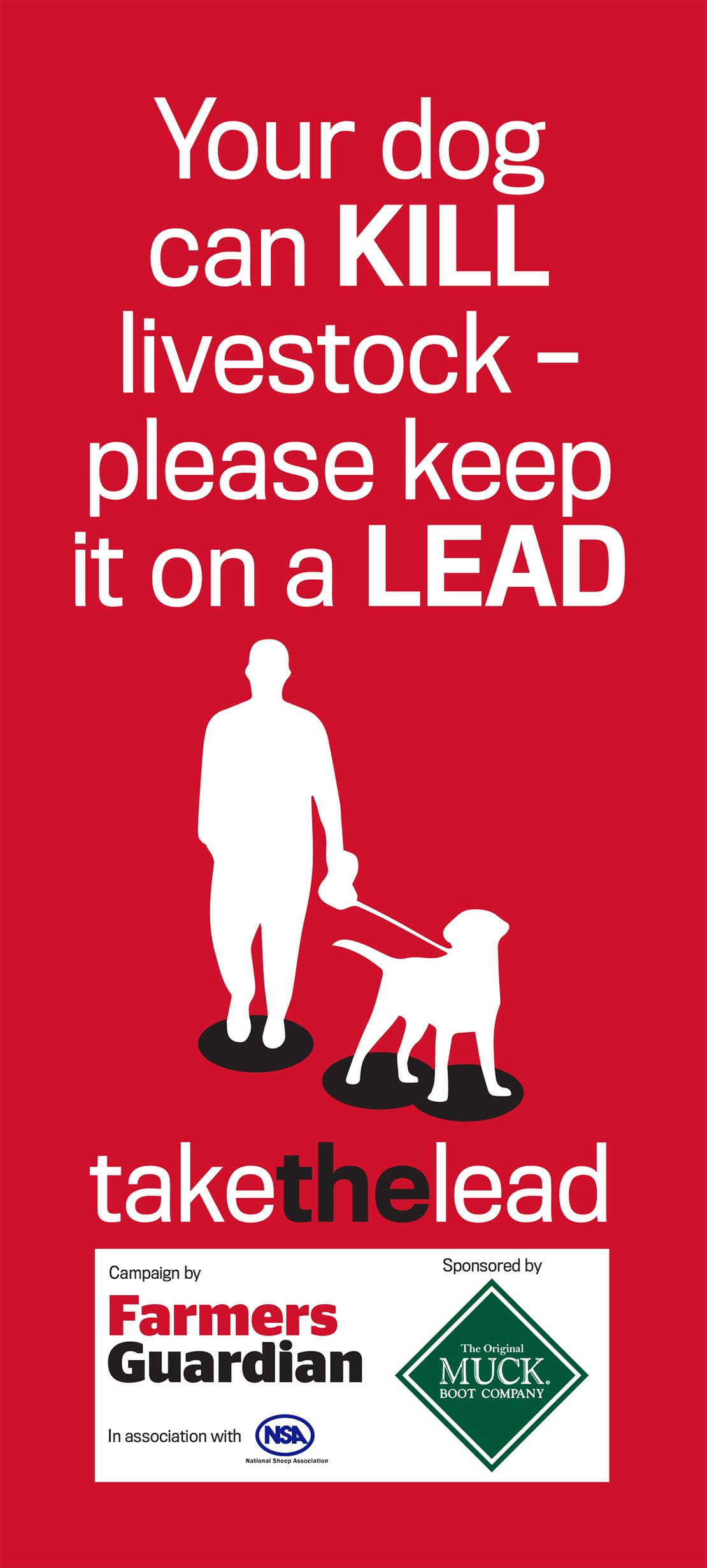 Take the Lead campaign signs