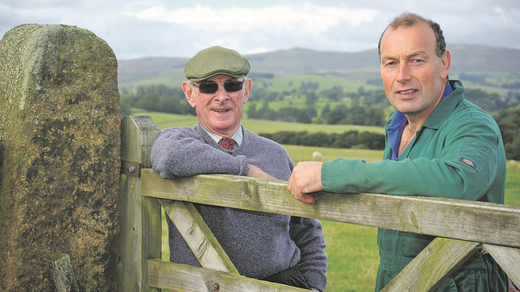 Tony Shepherd and John Henderson: Recent run of good weather makes working outside a pleasure