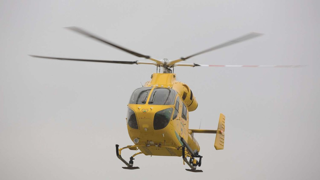 Man airlifted to hospital after being trapped in farm machinery