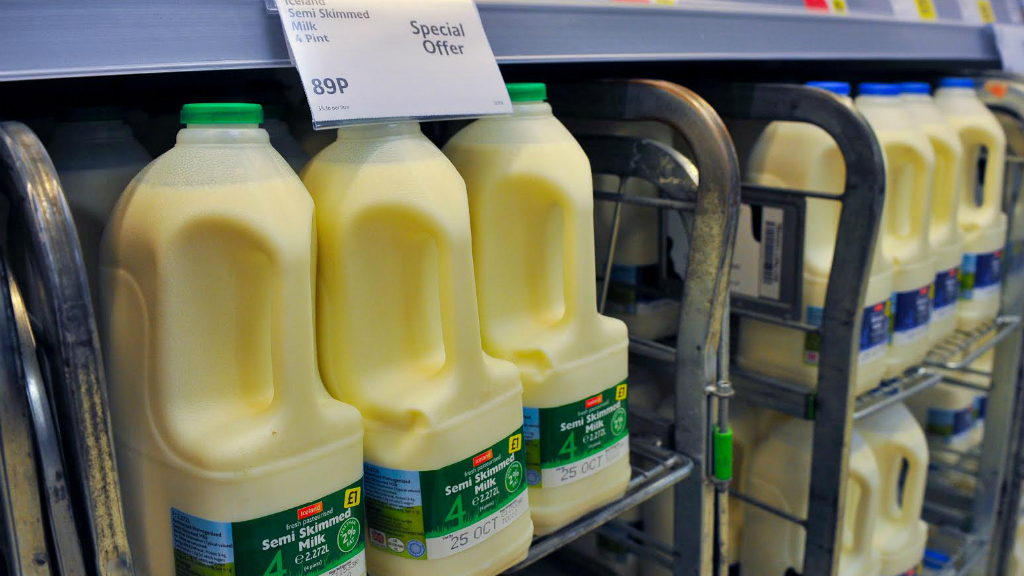 Iceland defends 89p milk price as protests loom