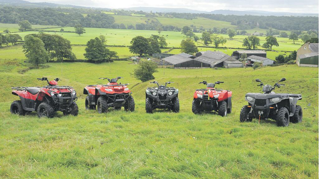 The five ATVs in our group test.