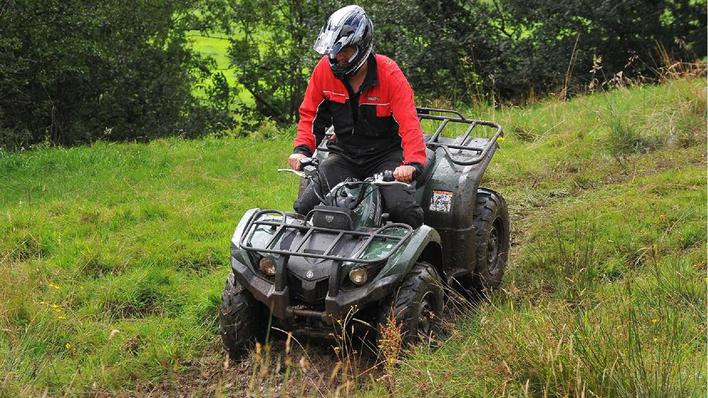 On test: Yamaha Grizzly 450 ATV