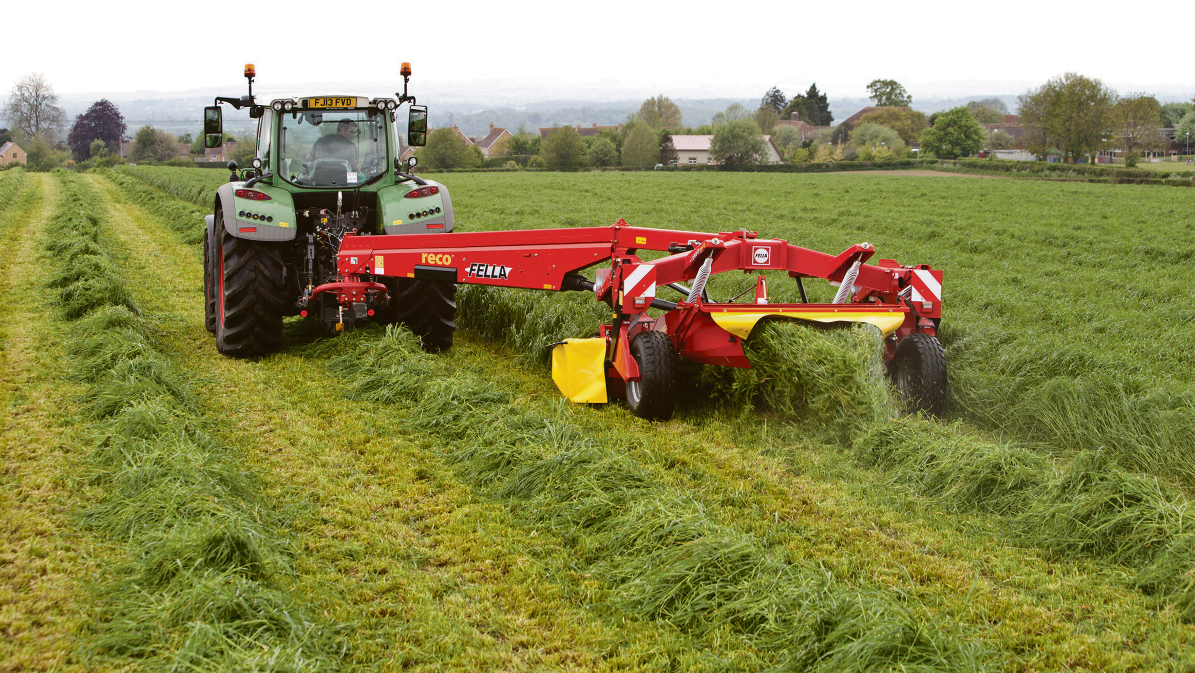 On test: Fella's centre-pivot mower conditioner