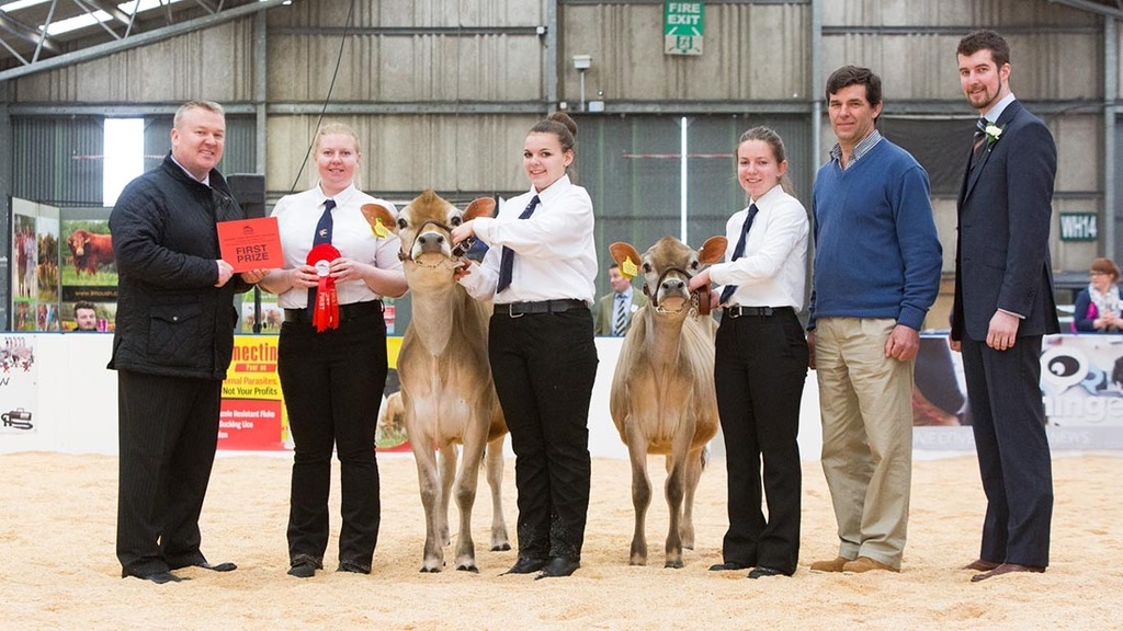 Winning dairy team