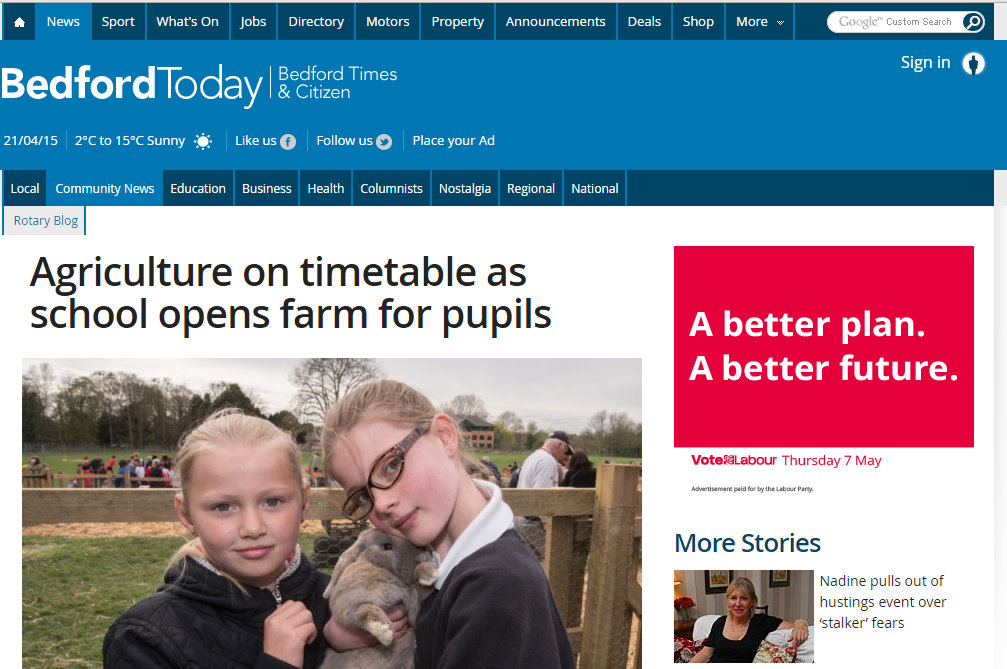 Agriculture on timetable as school opens farm for pupils