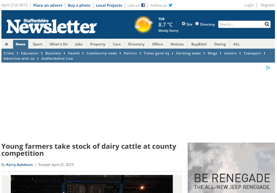 Young farmers take stock of dairy cattle at county competition