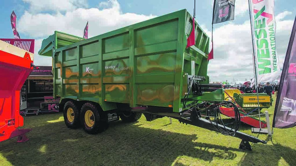 K-Two push off grain trailer