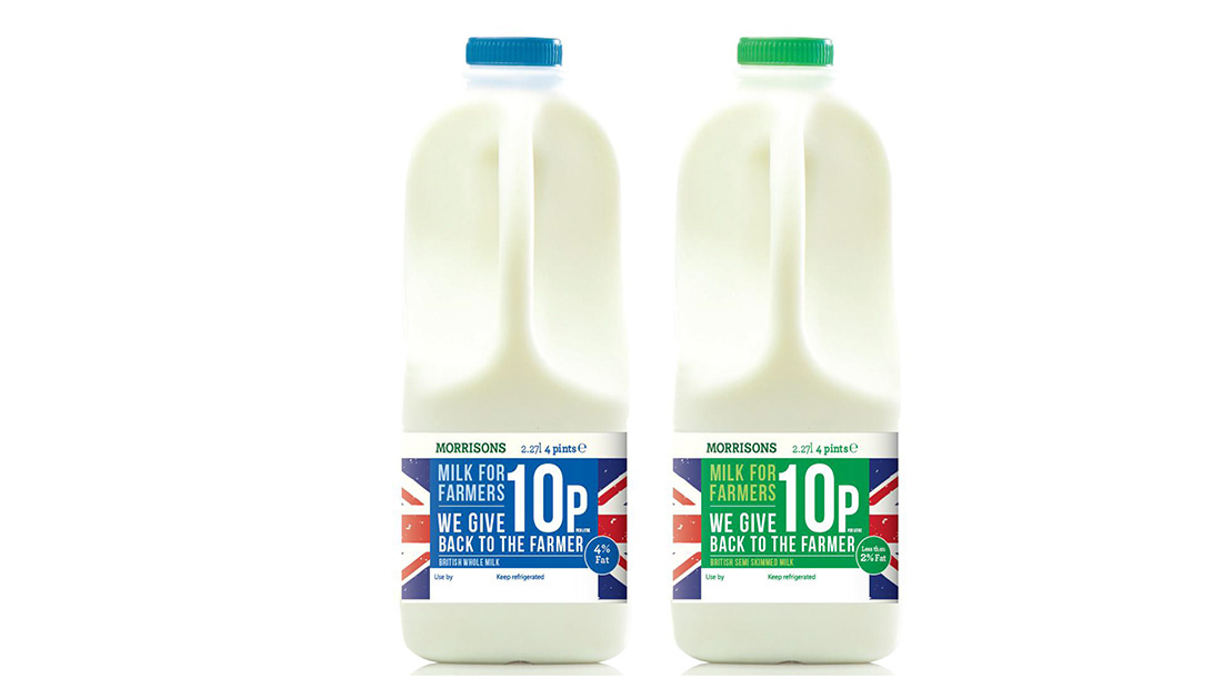 Morrisons increases own brand and Milk For Farmers retail prices