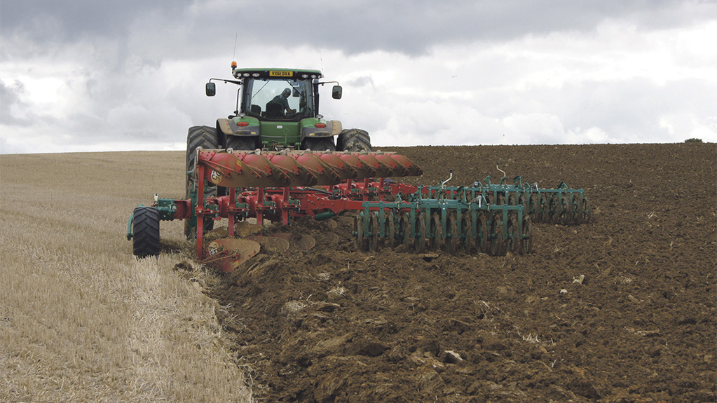 Big plough makes better use of dual wheeled tractor