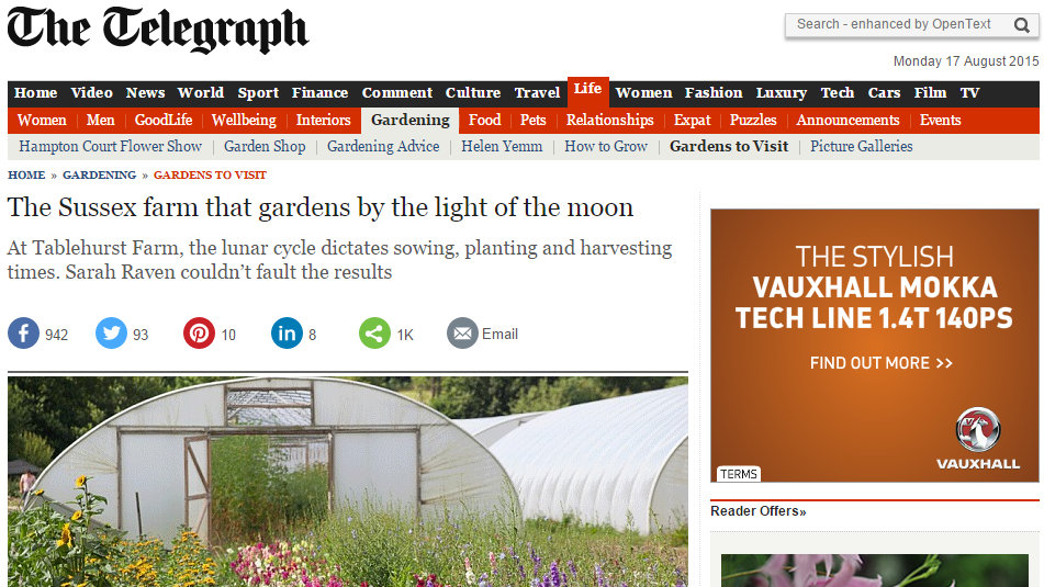 The Sussex farm that gardens by the light of the moon