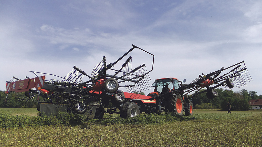 Easy does it with new four rotor rake