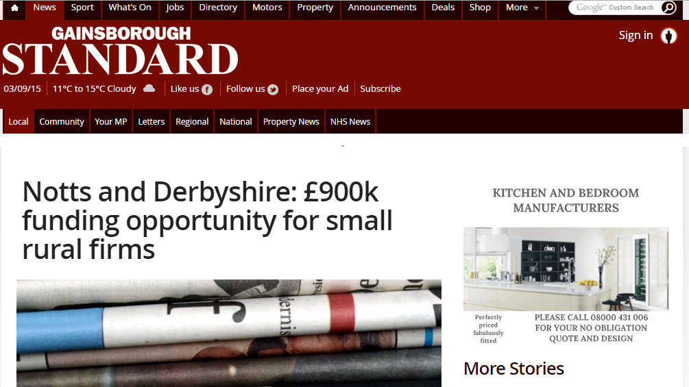 £900k funding opportunity for small rural firms