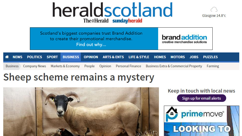 Sheep scheme remains a mystery