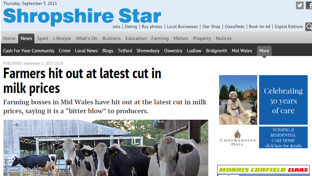 Farmers hit out at latest cut in milk prices