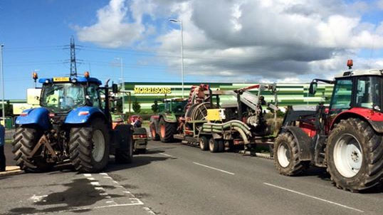 Farmers blockade Morrisons in Somerset as milk price row continues