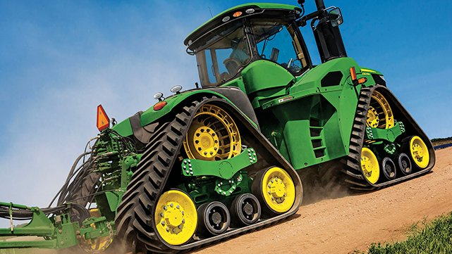 John Deere reveals four-track 9RX tractor