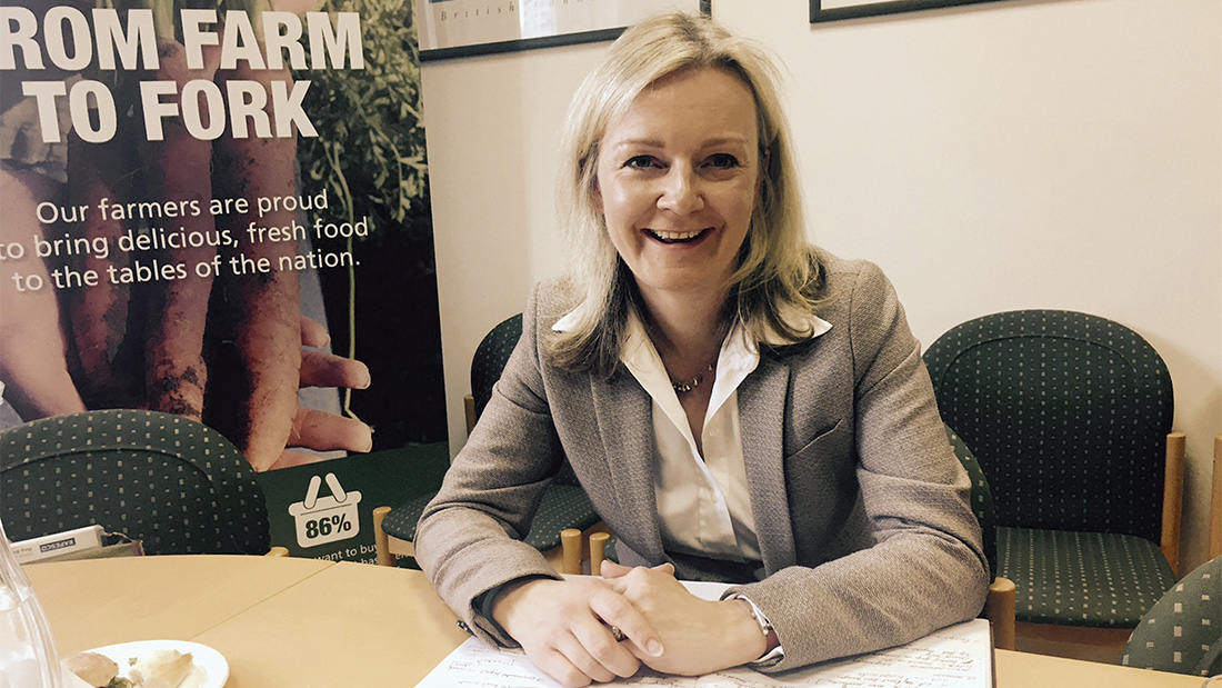 Ms Truss ensured new entrants that Defra is 'hugely ambitious for the industry's future'.