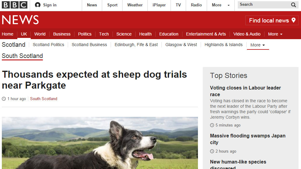 Thousands expected at sheep dog trials near Parkgate