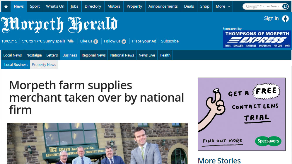 Morpeth farm supplies merchant taken over by national firm