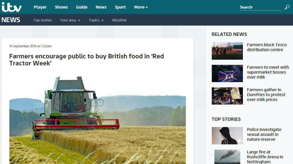 Farmers encourage public to buy British food in 'Red Tractor Week'