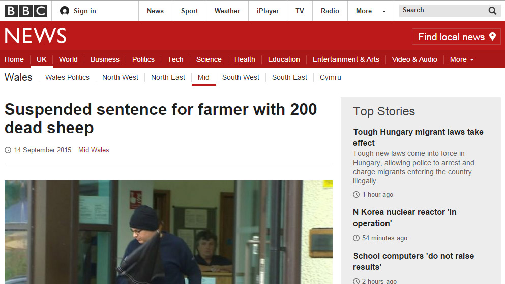 Suspended sentence for farmer with 200 dead sheep