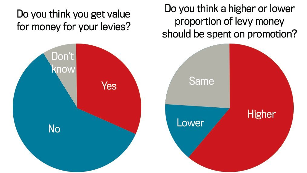 FG Insight survey shows levy payers want more spent on promotion