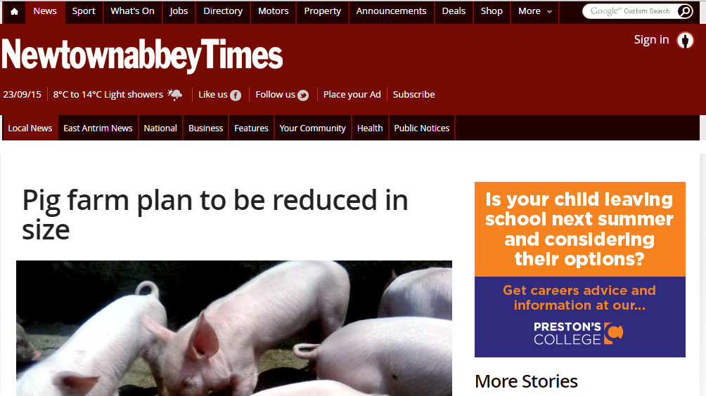 Pig farm plan to be reduced in size