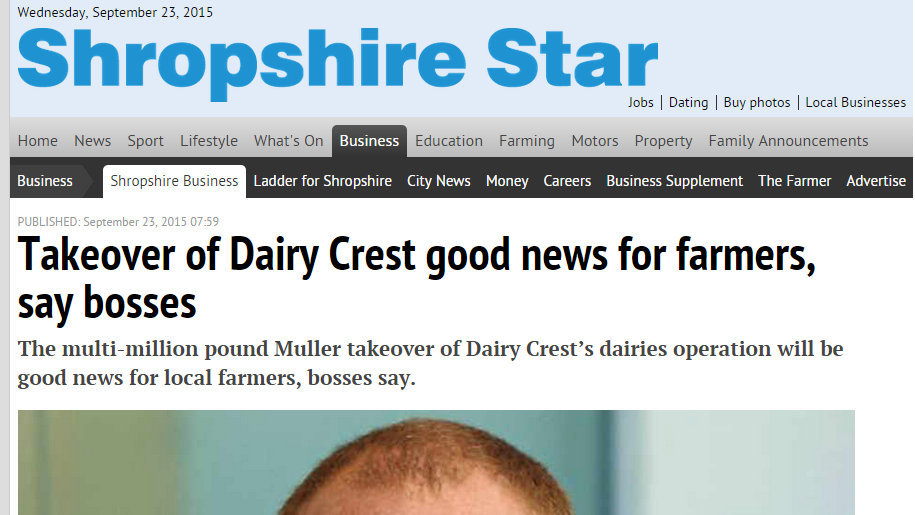 Takeover of Dairy Crest good news for farmers, say bosses