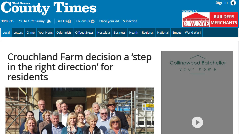 Crouchland Farm decision a 'step in the right direction' for residents