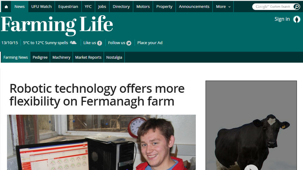Robotic technology offers more flexibility on Fermanagh farm