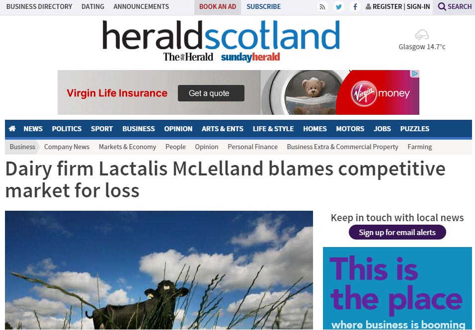 Dairy firm Lactalis McLelland blames competitive market for loss