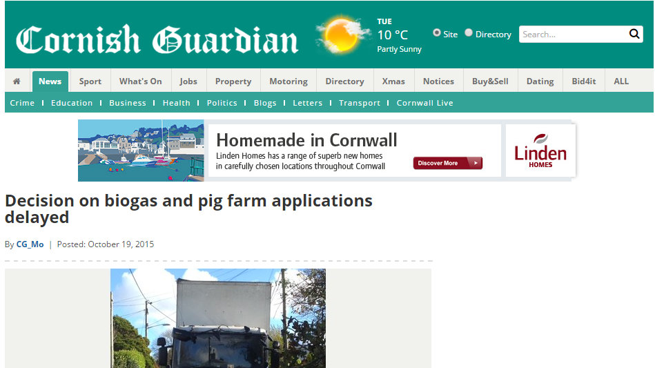 Decision on biogas and pig farm applications delayed