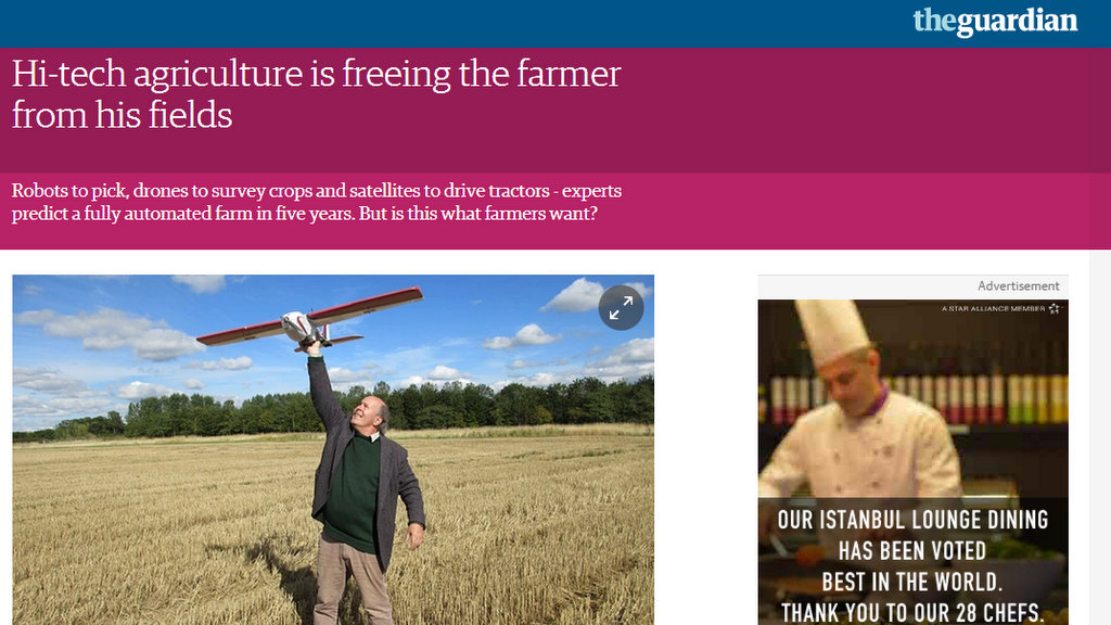 Hi-tech agriculture is freeing the farmer from his fields