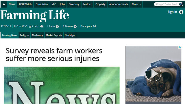Survey reveals farm workers suffer more serious injuries