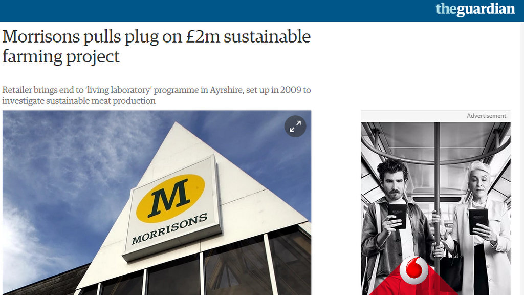 Morrisons pulls plug on £2m sustainable farming project