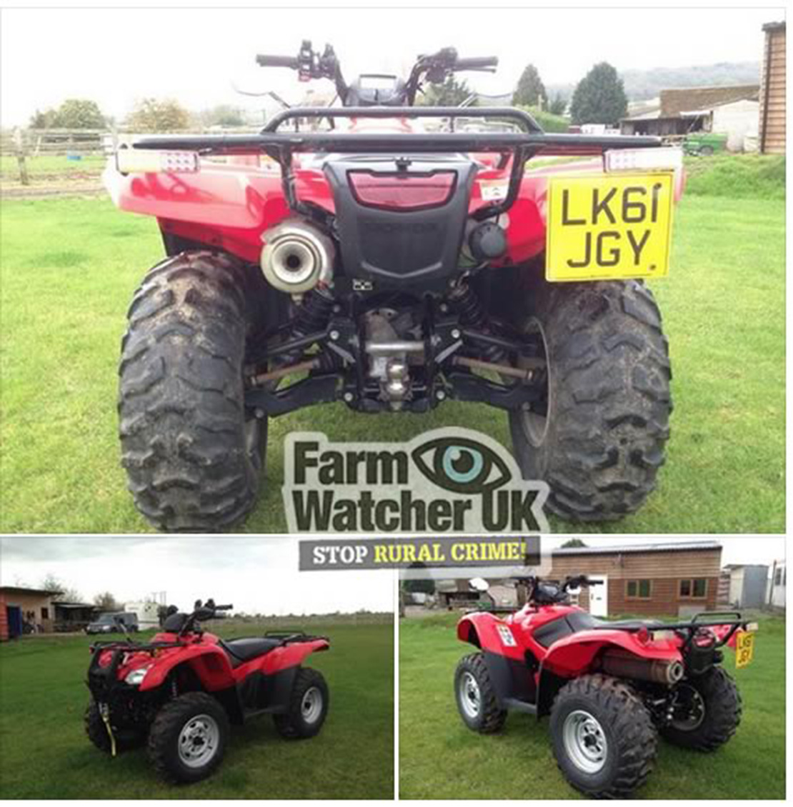 Farmers warned of online quad bike scam