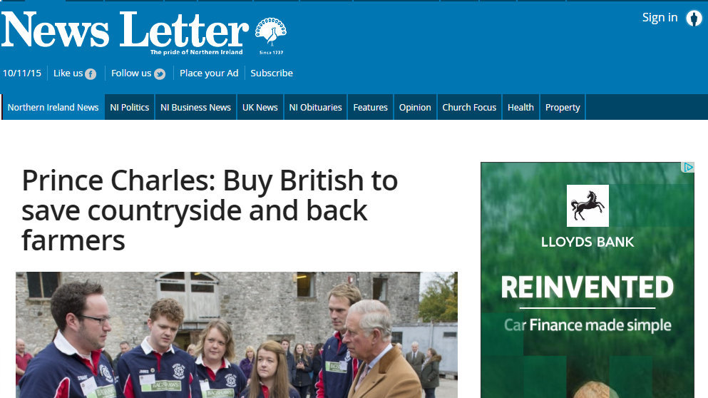 Prince Charles: Buy British to save countryside and back farmers