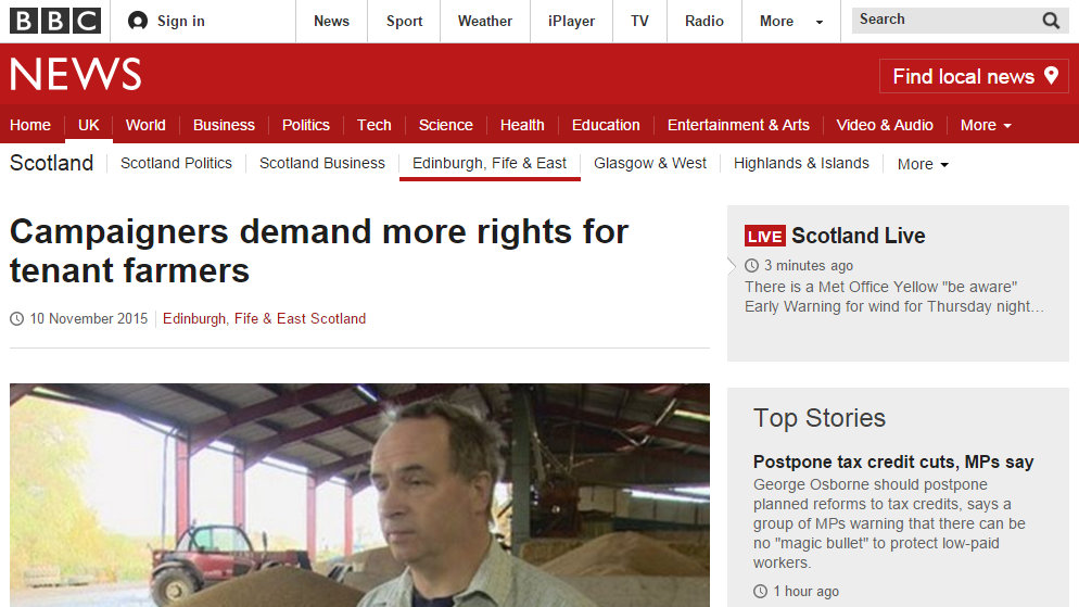 Campaigners demand more rights for tenant farmers