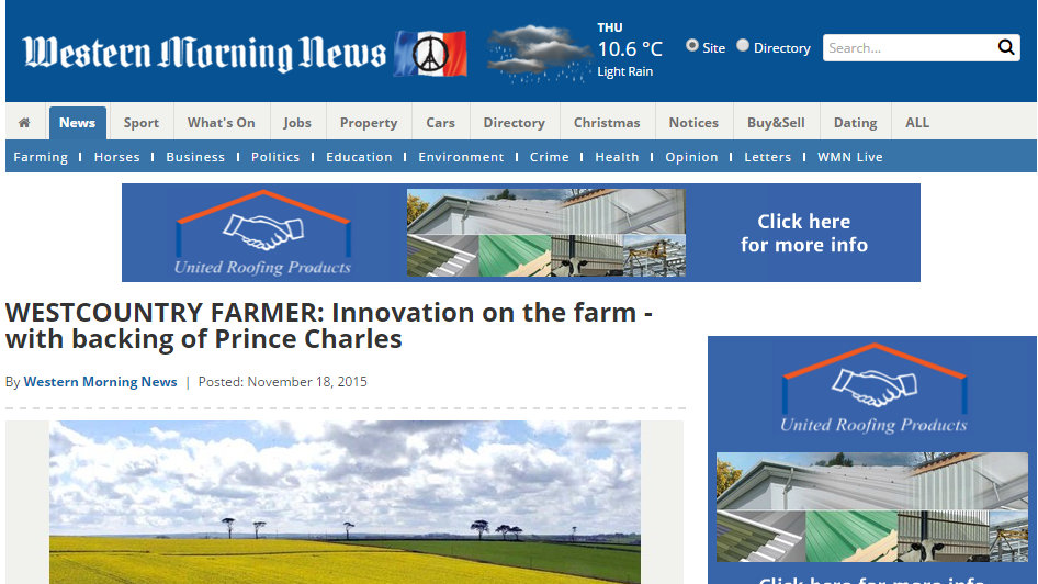 Innovation on the farm - with backing of Prince Charles