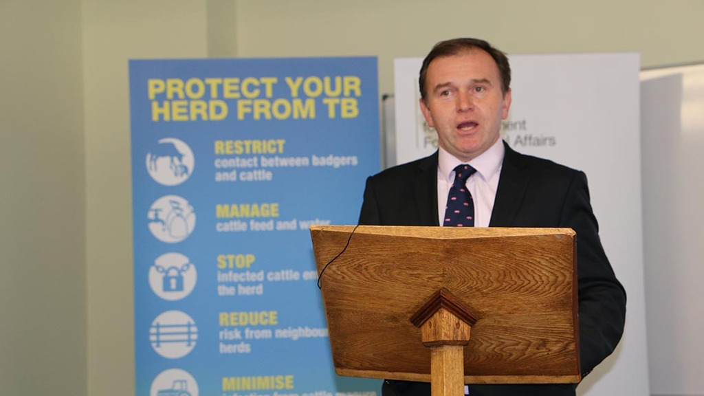 George Eustice launching the Defra-industry biosecurity plan
