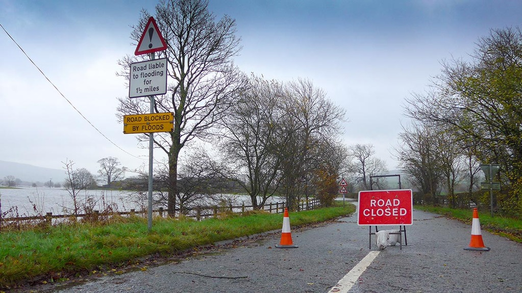 Farms in the north-west have been hit by flooding in the past week