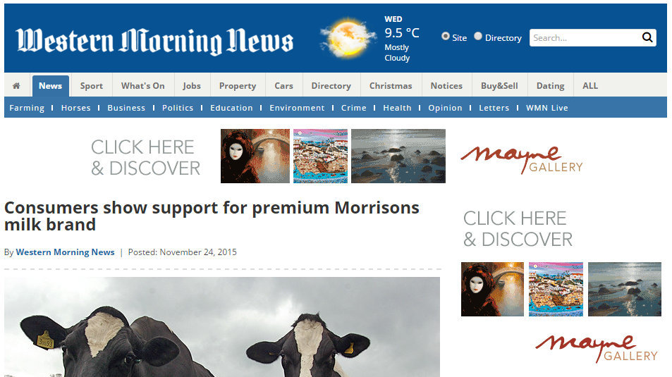 Consumers show support for premium Morrisons milk brand