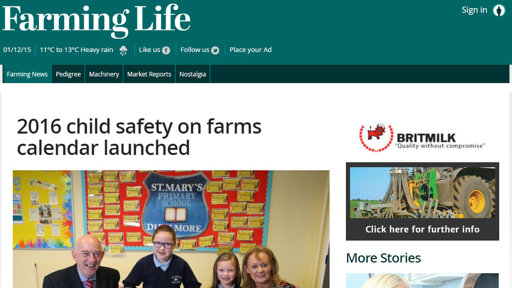2016 child safety on farms calendar launched
