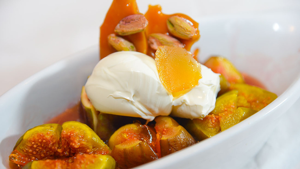 Marmalade sticky figs with mascarpone