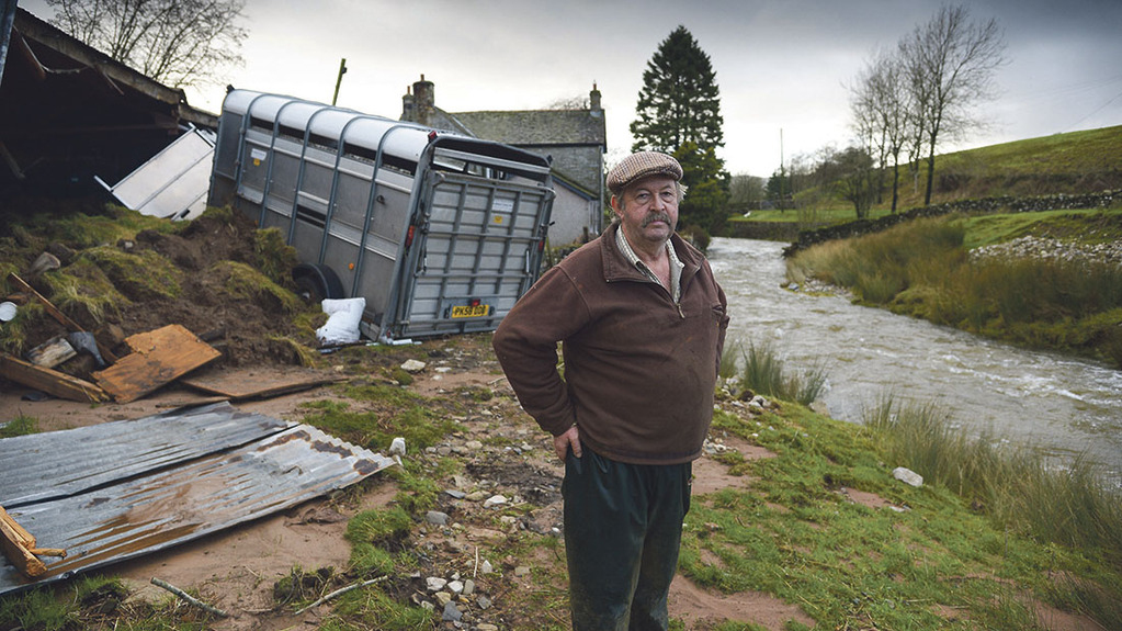 Raisgill Hall Farm – One year on from landslide caused by Storm Desmond