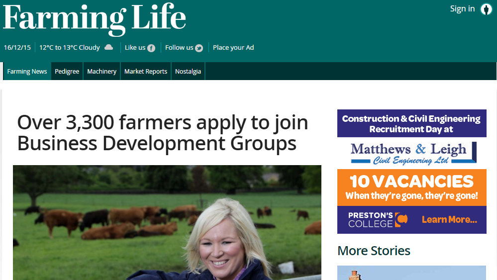 Over 3,300 farmers apply to join Business Development Groups