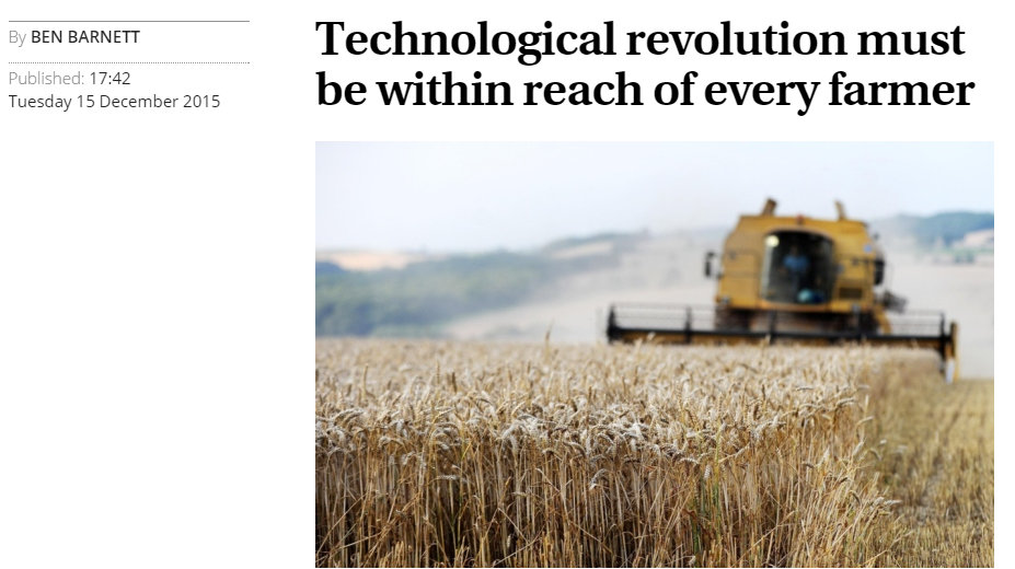 Technological revolution must be within reach of every farmer