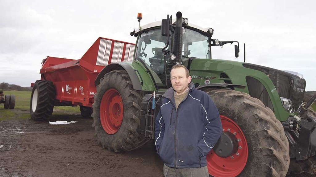 Alex Pike says the weigh cell spreader takes the guess work out of muck spreading.