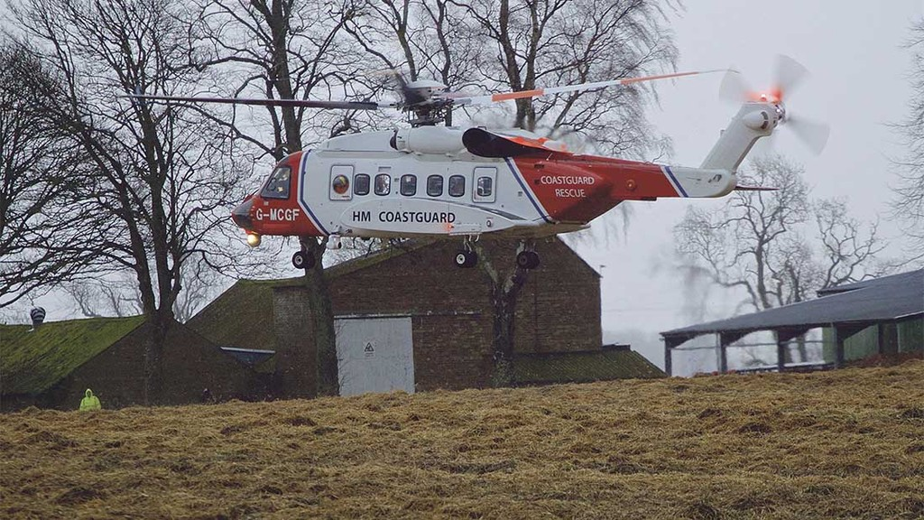 A family was airlifted to safety following flooding in Scotland