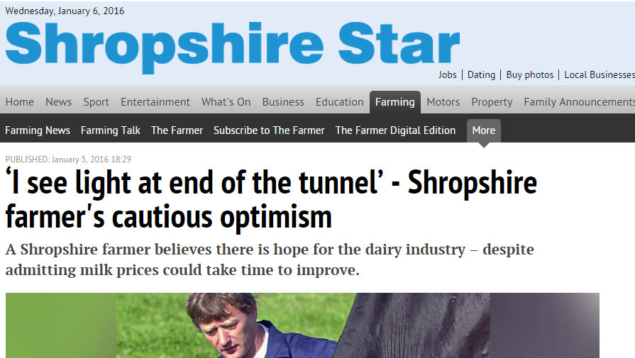 'I see light at end of the tunnel' - Shropshire farmer's cautious optimism